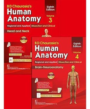 BD CHAURASIAS HUMAN ANATOMY 8ED VOL 3 & 4 REGIONAL AND APPLIED DISSECTION AND CLINICAL HEAD AND NECK BRAIN NEUROANATOMY (PB 2020) SET OF 2 VOLS: ... Head and Neck, and BrainNeuroanatomy By CHAURASIA B. D