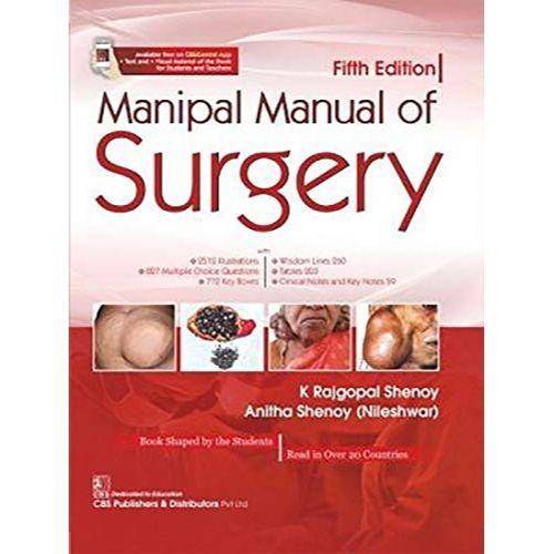 MANIPAL MANUAL OF SURGERY 5ED (PB 2020) By SHENOY K. R